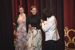 Mwah actress Bethany Whitmore, director Nina Buxton and Sue Maslin