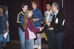 Prof. Rob Strathdee, Victoria University, handing out trophies to Masterclass winners
