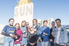 2018 Victoria University Masterclass winners with Professor Rob Strathdee and Festival Director Anna Bourzikas